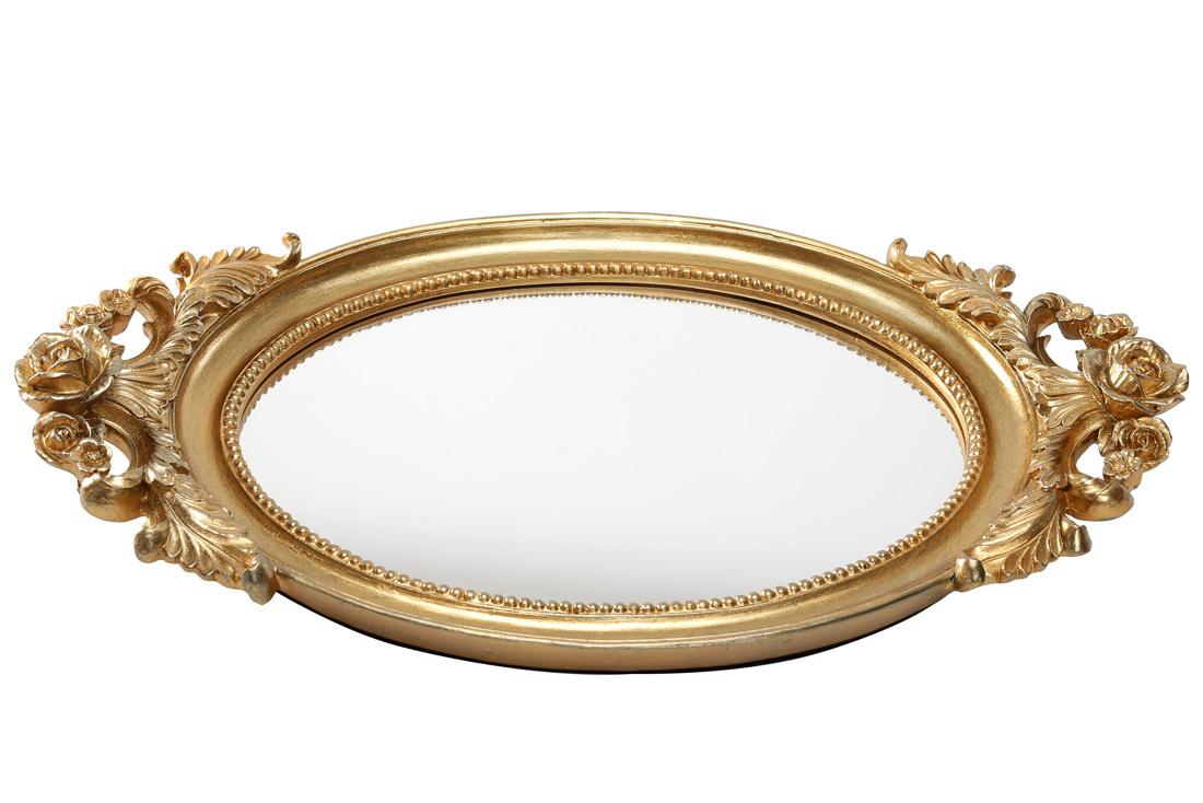 Поднос с зеркальной поверхностью