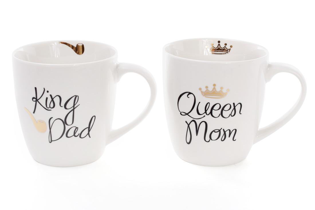 Кружка King Dad, Queen Mom