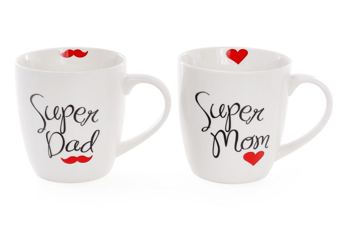 Кружка Super Dad, Mom