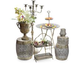 Металлическая мебель и декор